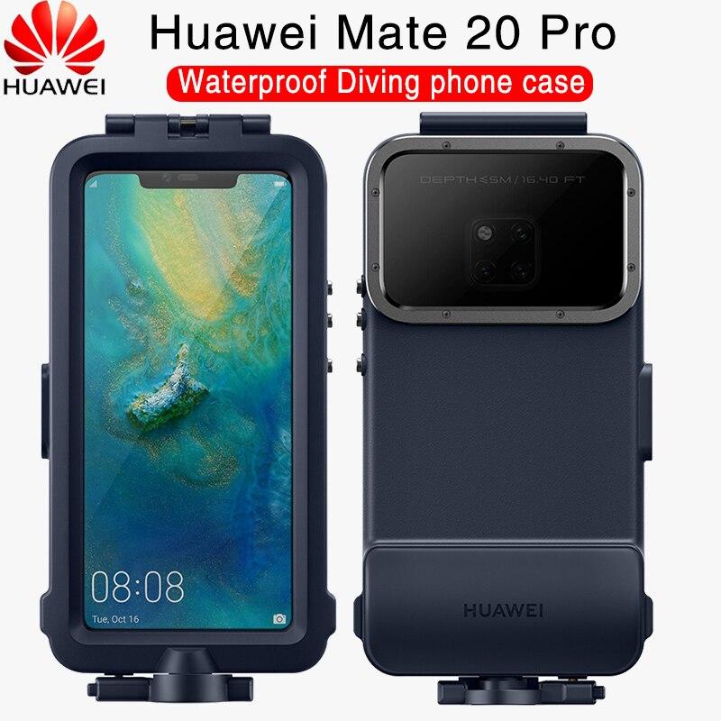 Huawei companheiro 20 pro caso oficial original à prova doffágua natação mergulho câmera proteger capa huawei companheiro 20 caso