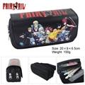 Double Zip Cartoon One Piece/Fairy Tail/Pokemon/Dragon Ball/Tororo School Pencil Bag Children Student Pen Case Stationery Box