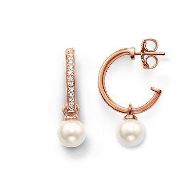 Perlas aretes, Thomas estilo Glam y el alma bueno Jewerly para mujeres, 2015 Ts de regalo en oro rosa plated, repartos estupendos