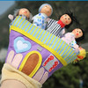 1PC LOT A Family Of Five Hand Puppet Cartoon Finger Puppets Early Educational Toys Fantastic Toy