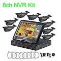 10.1-polegadas Tela LCD Monitor Gravador NVR 8CH 720 P Wi-fi Sem Fio de Segurança Com 8x720 P 1.0MP Câmeras Dome à prova de intempéries Ao Ar Livre