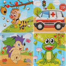 Baby Wooden Puzzles of 4 Types