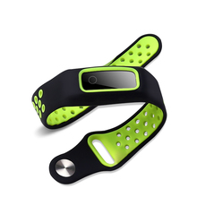 Two-color soft silicone watch band For Honor Band 4 Running /Huawei band 3E silicone Replacement strap