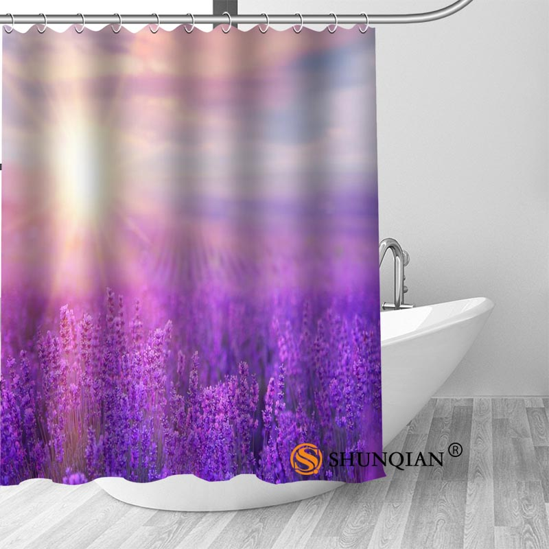 Custom Shower Curtain Lavender Bathroom Curtains High Quality Polyester Bath Home Hotel Decoration In From Garden On