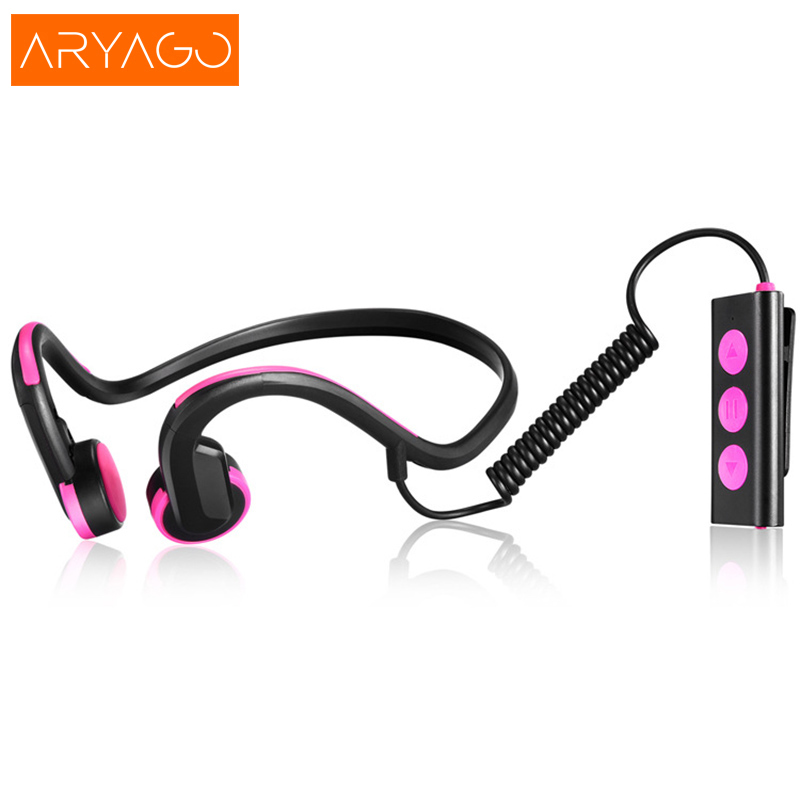 ARYAGO Ear Hook Bone Conduction Bluetooth 4.2 Sports Headphone Headset With Mic Adjustable headband For Android IOS Smartphone bluetooth 4 1 bone conduction sports waterproof headset wireless ear hook headphone w mic white