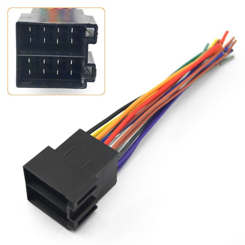 Universal Female ISO Radio Wire Wiring Harness Adapter Connector Plug For Volkswagen VWCitroenAudiMercedes-BenzFordDodge