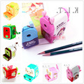 Friendly Cute Manual Pencil Sharpeners Cartoon Boy Girl Quiet Classroom Slicing random shipping