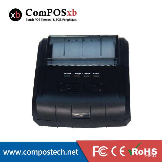 Venta CALIENTE POS Impresora ComPOS-E300 80mm Mini Impresora Térmica de Recibos Portátil E300 1D y 2D para e-shop