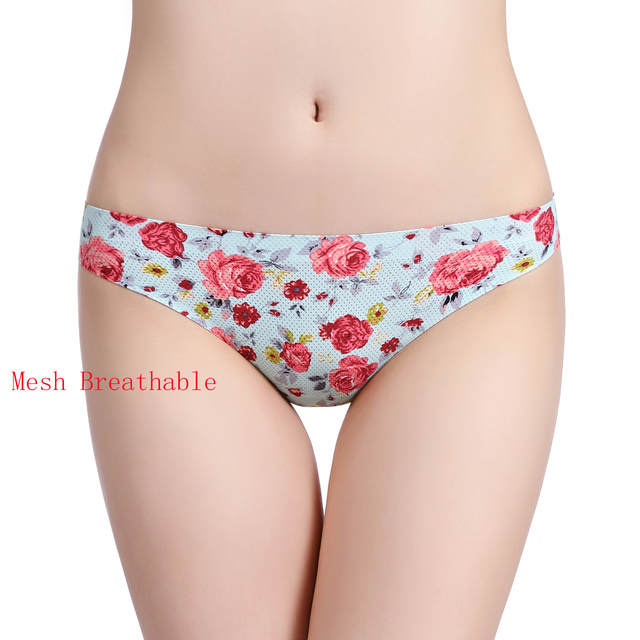 a23823d1b7d Online Shop Flower Printing G String Small Mesh Breathable Underwear Women  High Quality Seamless Panties Women Sexy Thong Plus Size Tangas