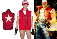 anime products KOF The King Of Fighters Terry Bogard Cosplay Costume with hat and gloves