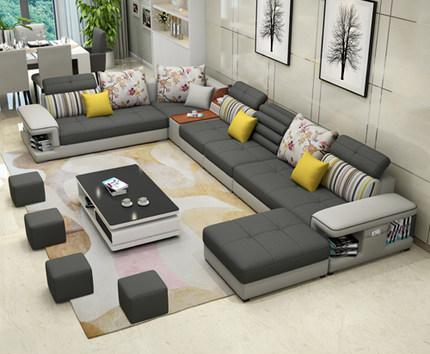 The Large Sized Apartment Sofa Simple Modern U Type Sofa Factory