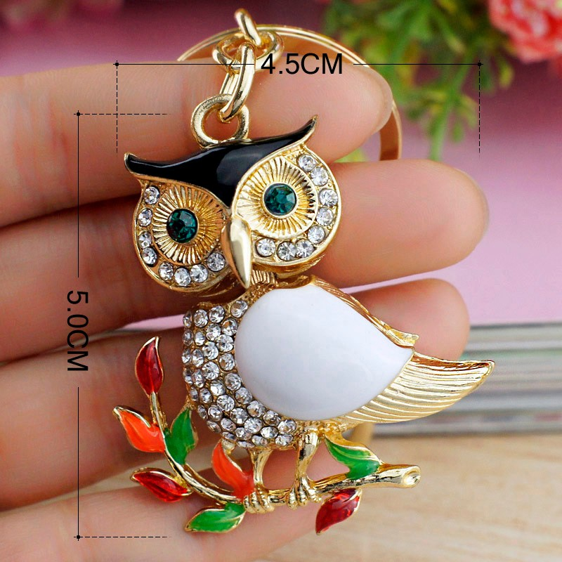 Owl Delicate Metal Keychain