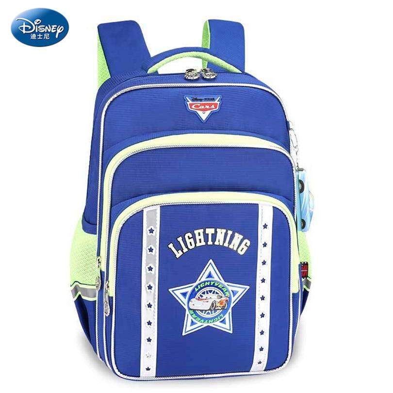 Disney Cars Waterproof Backpack School Bags for Boys&Girls Cartoon Fashion Reflective straps Schoolbag Kid Satchel for Grade 1-3 дисней disney детский школьный портфель студентов мужского пола в младших классах 1 3 grade автомобили обременяет мешок плеча 1 grade 3 rb0085b navy