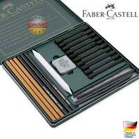 Бесплатная доставка Германия импортировала профессионального уровня 22 шт. 112967 Faber карандаш, ластик Питт углем эскиз картины сочетание