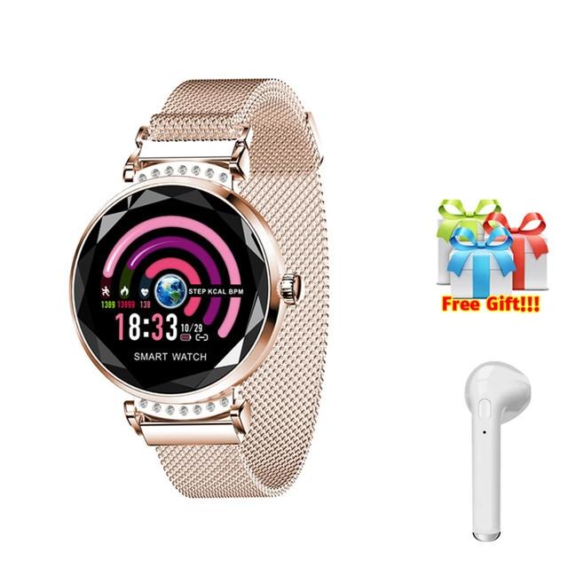 H2 Smart bracelet Color screen Waterproof wristband heart rate Blood pressure measurement Fitness tracker band+earphone gift H1