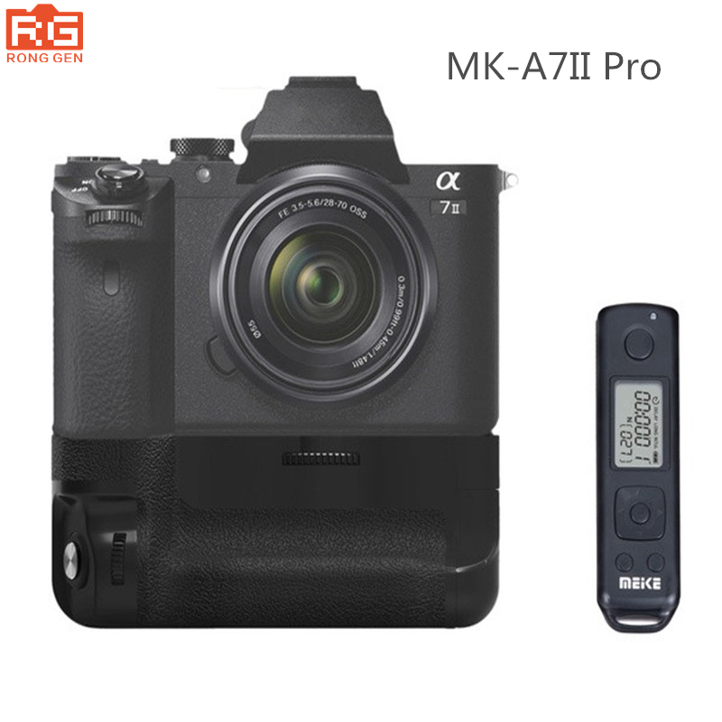 MK-A7II Pro Built-in 2.4g Wireless Control Battery Grip for Sony A7R II A7 II as VG-C2EM meike mk d750 battery grip pack for nikon d750 dslr camera replacement mb d16 as en el15 battery