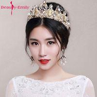 Barroco Headband Crown Europe And Large Baroque Married Crown Tiara Women Jewelry