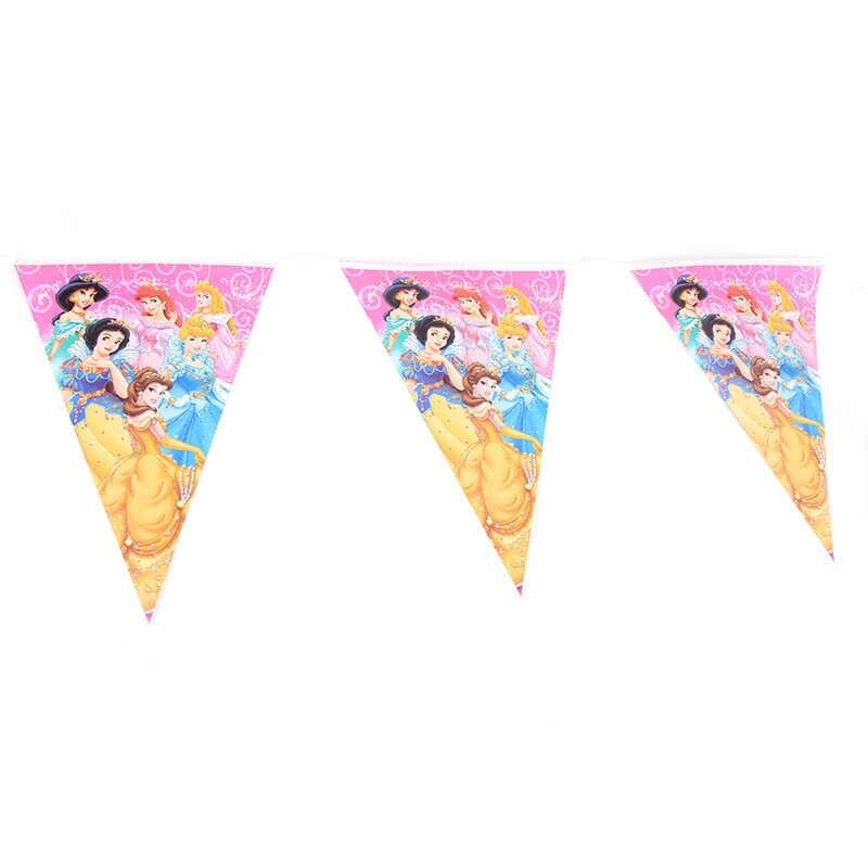 Para 20 crianças festa de aniversário princesa copo placa palha bandeira festa decoração conjuntos de papel do chuveiro do bebê suprimentos