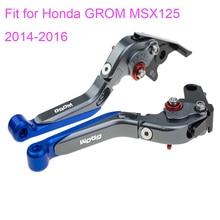 KODASKIN Left and Right Folding Extendable Brake Clutch Levers for Honda GROM MSX125 2014-2016