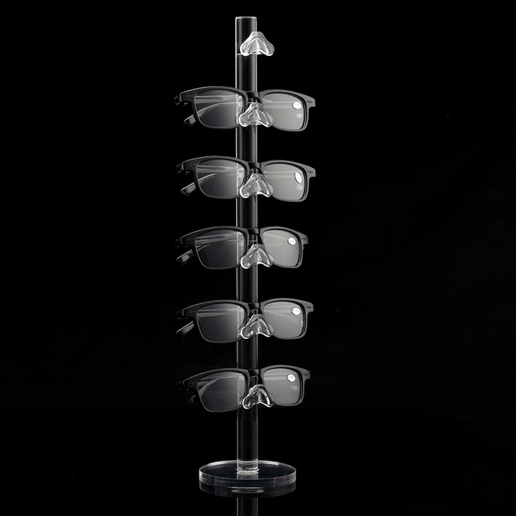 Acrylic Fashion Design 6 Pairs Sunglasses Eye Glasses Frame Rack Eyewear Counter Holder Display Stand Display Holder