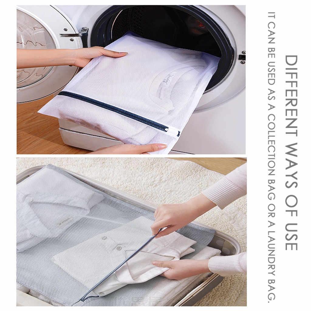 Saco de roupa Saco da Lavanderia 2 pçs/set 7 Tamanhos Roupa Interior Lingerie Meias Mulheres Malha Bra Lavar Roupa Ajuda Net Sacos Zip protetor de sutiãs