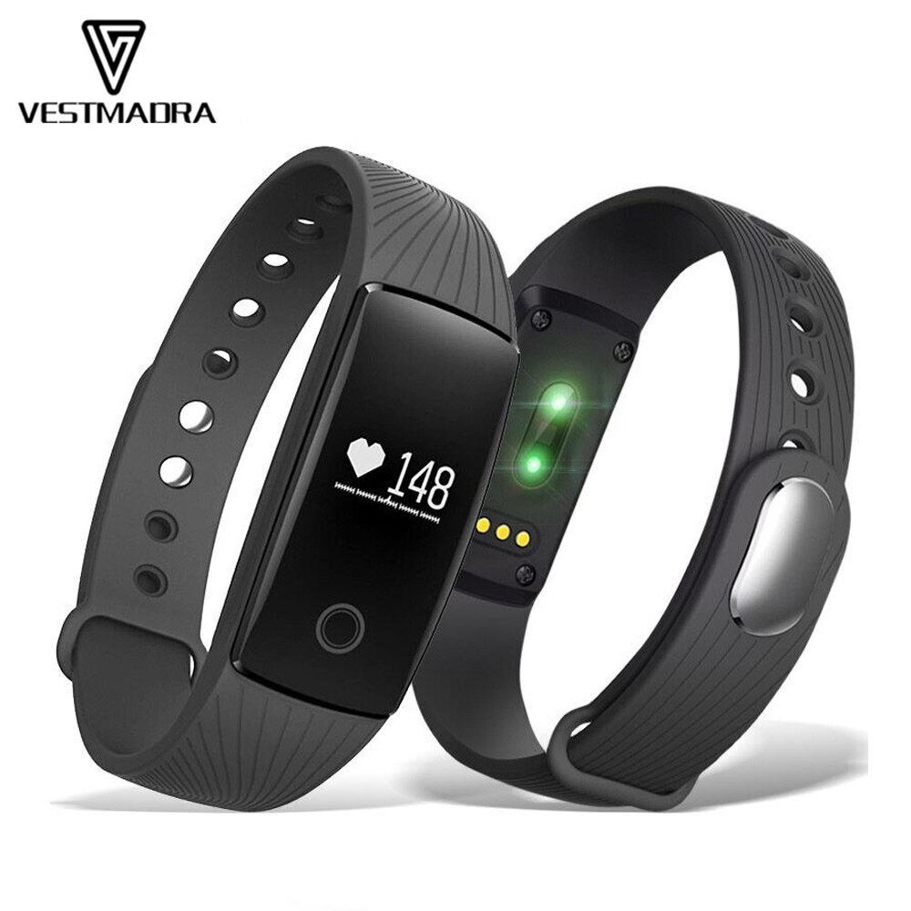 VESTMADRA V05C Smart Band Heart Rate Monitor Smart Wristband Pedometer Sleep Tracker Fitness Bracelet for IOS