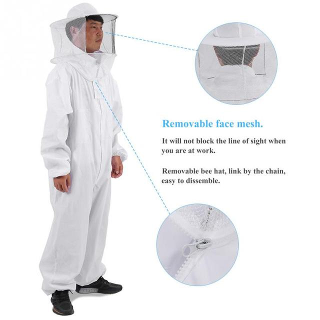 Natural Apiary Apiarist Beekeeping Suit Protection for Professional Beginner Beekeepers L/XL/XXL Sizes Beekeeping Equipment