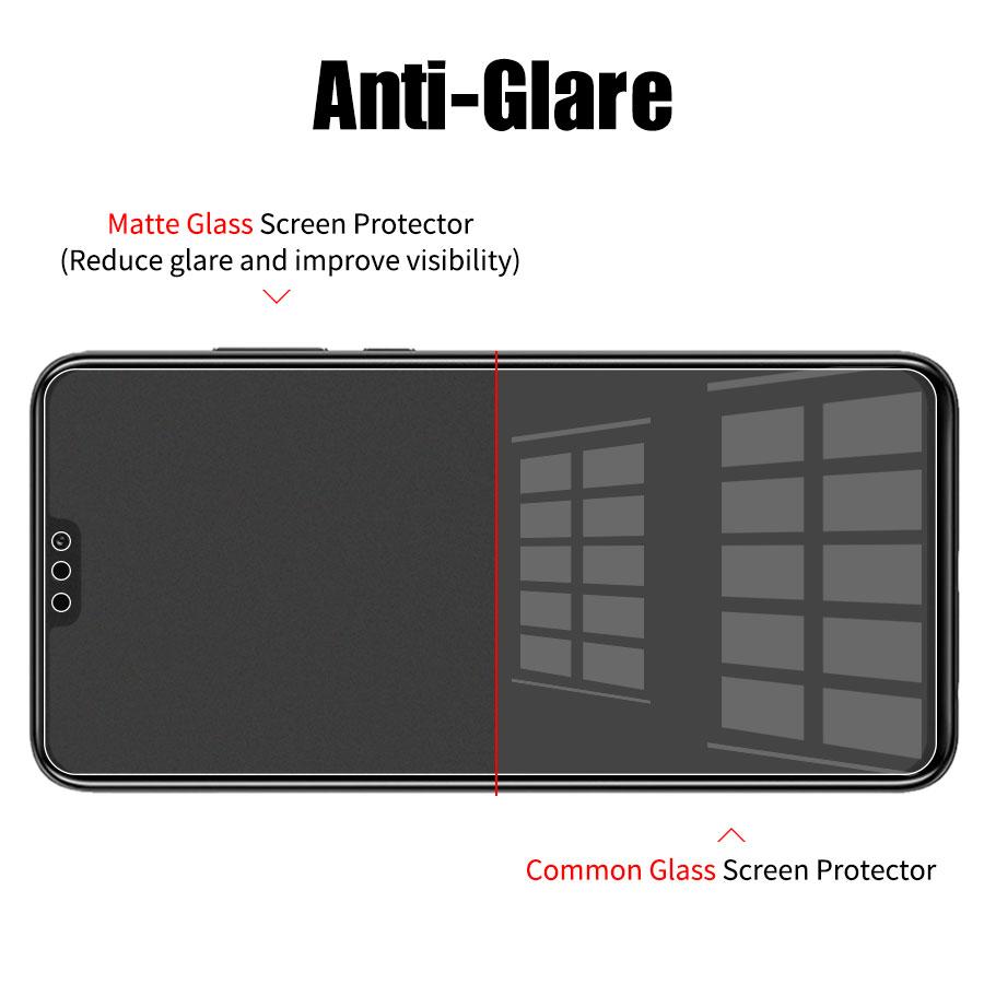 Matowy matowe szkło hartowane dla Huawei Honor 8X10 9 8 grać 8X 7X widok Mate 20 P inteligentny plus 2019 folia ochronna na ekran szkło 4