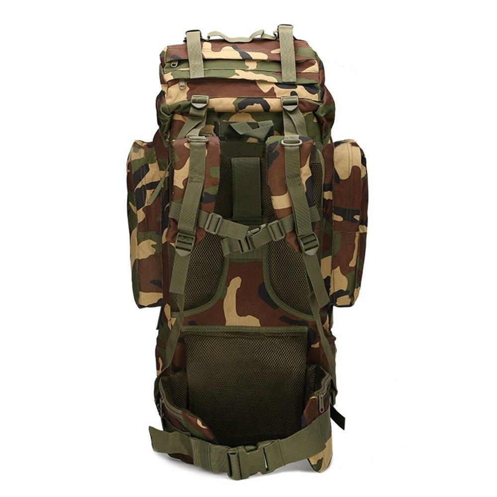 Pêche 65L grande capacité sac d'alpinisme fournitures de plein air camping camping sac sur pied imperméable couverture camouflage sac à dos