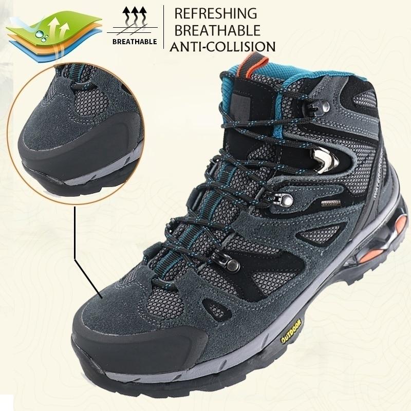 Bottes de randonnée antidérapant imperméable à la cheville bottes militaires tactiques baskets d'extérieur hommes escalade Anti chaussures bottes de chasse