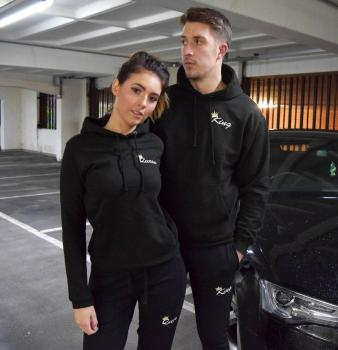 OMSJ New Fashionable Couple Black Matching Outfits Sweatsuit Fall Clothes,Lover Christmas Gift Long Sleeve Track Sets Hoodies 1