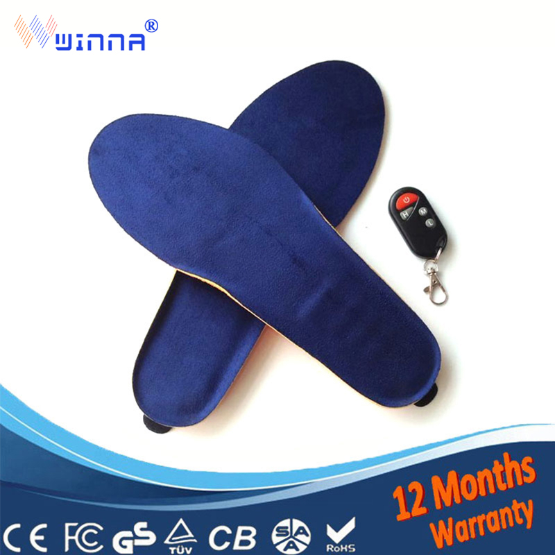 New USB warm heated insoles Soles for women men shoes thick insole foot Massage shoe sole pads inserts accessories 1800MAH