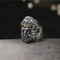 Sun Wukong Monkey King Special Design Party Wholesale Accessories 925 Sterling Silver Man Jewelry Unique