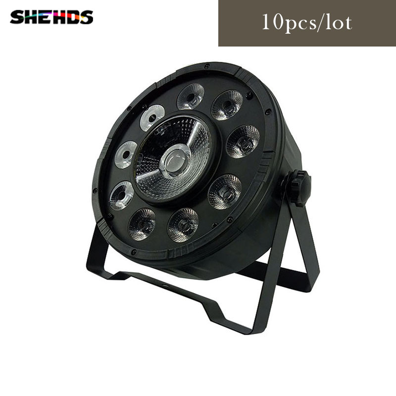 10pcs/lot Fast Shipping LED Par 9X10W RGB+30W RGB COB LED DJ Wash Light Stage Uplighting No Noise Free Shipping стоимость