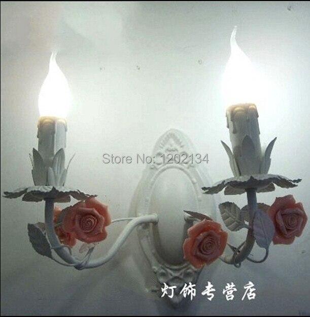 2 Kerze Wandleuchten Rustikalen Eisen Bett Beleuchtung Einfache Haushalt  Beleuchtung, Rose Wandleuchte Blume,
