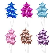 5Pcs/Set Pentagram Foil Balloons Baby Shower Silver Pink Stars Decoration Kids Wedding Birthday Party Balloon Decor
