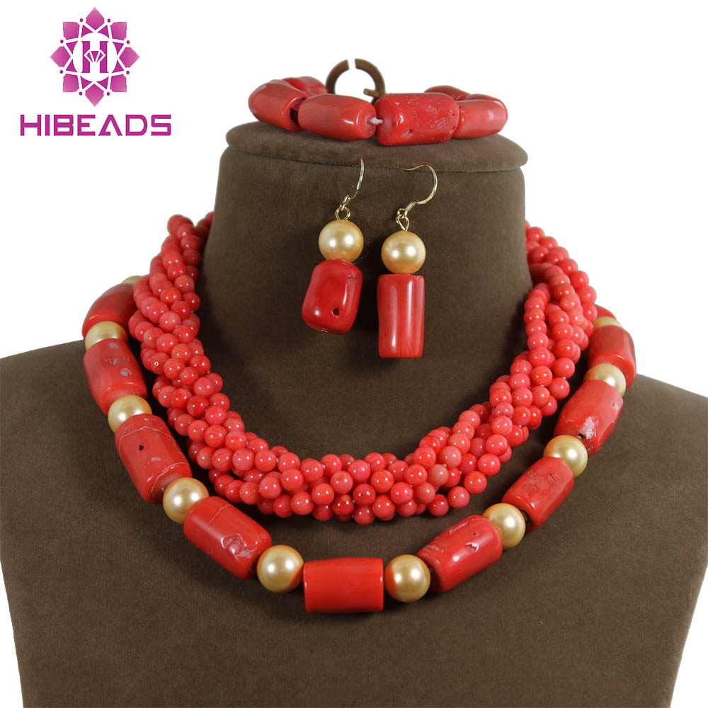 Handmade Drum Coral Jewelry Set Big African Jewelry Beads Set Mix&Match Style Coral Set Hot Online CNR104Handmade Drum Coral Jewelry Set Big African Jewelry Beads Set Mix&Match Style Coral Set Hot Online CNR104