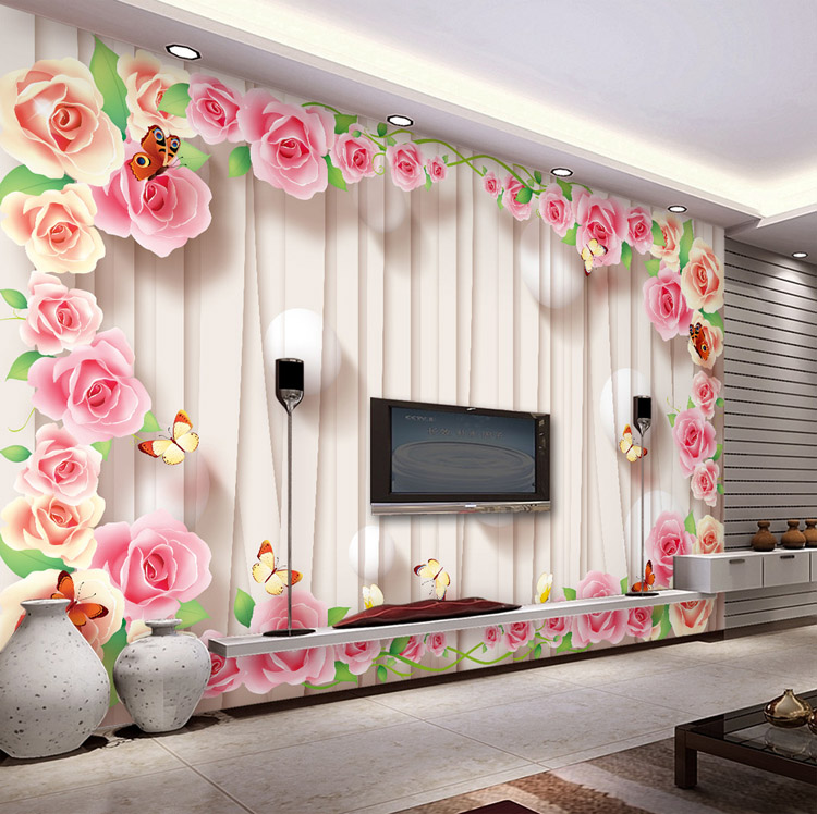 Romantic Rose Wallpaper Personalized Custom 3D Wall Murals