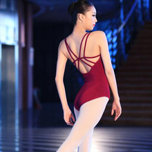 Черный красный гимнастический купальник женский танцевальный Купальник для девочек с открытой спиной лайкра балетное трико из спандекса купальник