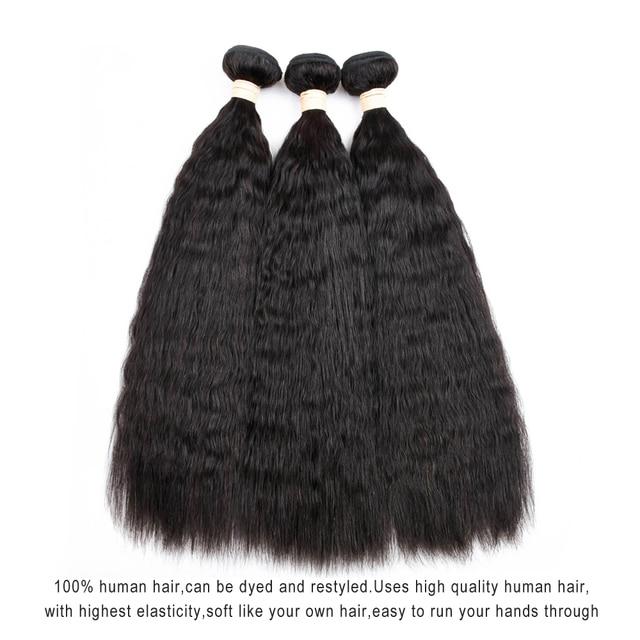 Mslove Kinky Straight Hair Bundles For African Black Women Malaysian