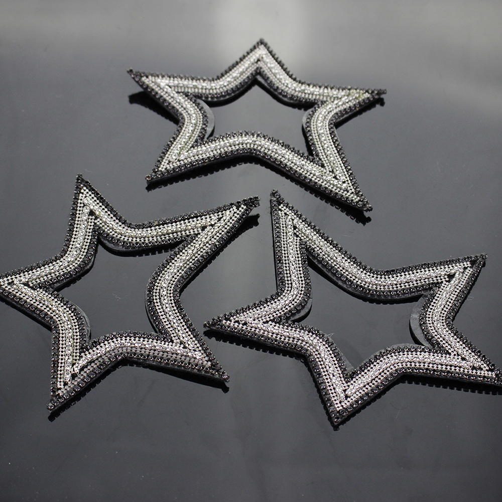 I Love Metal Inverted Pentagram Patch Iron on Applique Heavy Death Metal Music Clothing