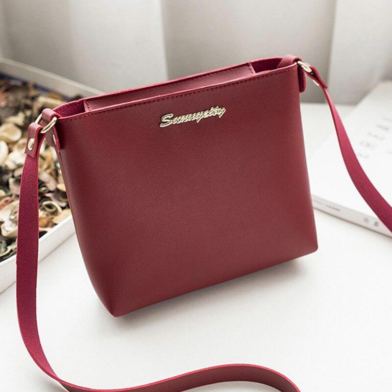 2019 Fashion For Ladies Solid zipper Shoulder Bag Messenger Phone Coin Bag Crossbody Bag Small korean Style Bolsas Feminina Saco shoulder bag