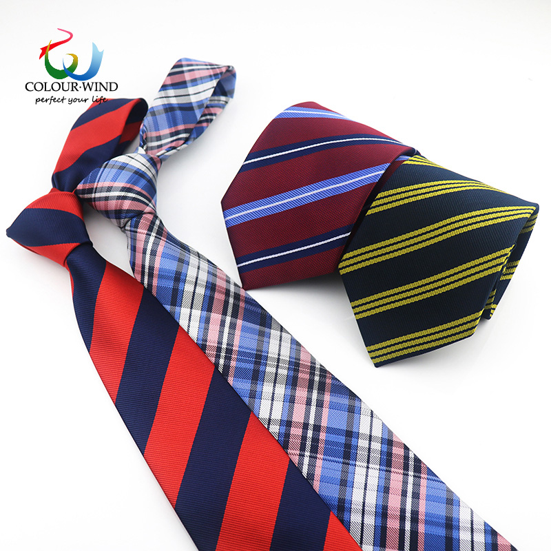 Mens Classic Neck Tie Striped Plaid Navy Blue Polyester Tie For Men Business Wedding Party 8cm Width Free Shipping Gravata Gift plaid