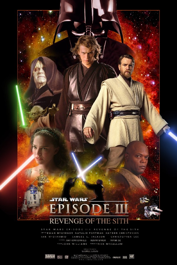 US $4 47 17% OFF|Aliexpress com : Buy DIY frame 2PCS CHOOSE Star Wars  Episode III Revenge Of The Sith Movie Posters and prints fabric Silk Print  art