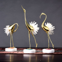 Crystal Dance Swan Creativity Brass Decoration Crafts High end Europe Copper Animal Home decoration accessories Home decor
