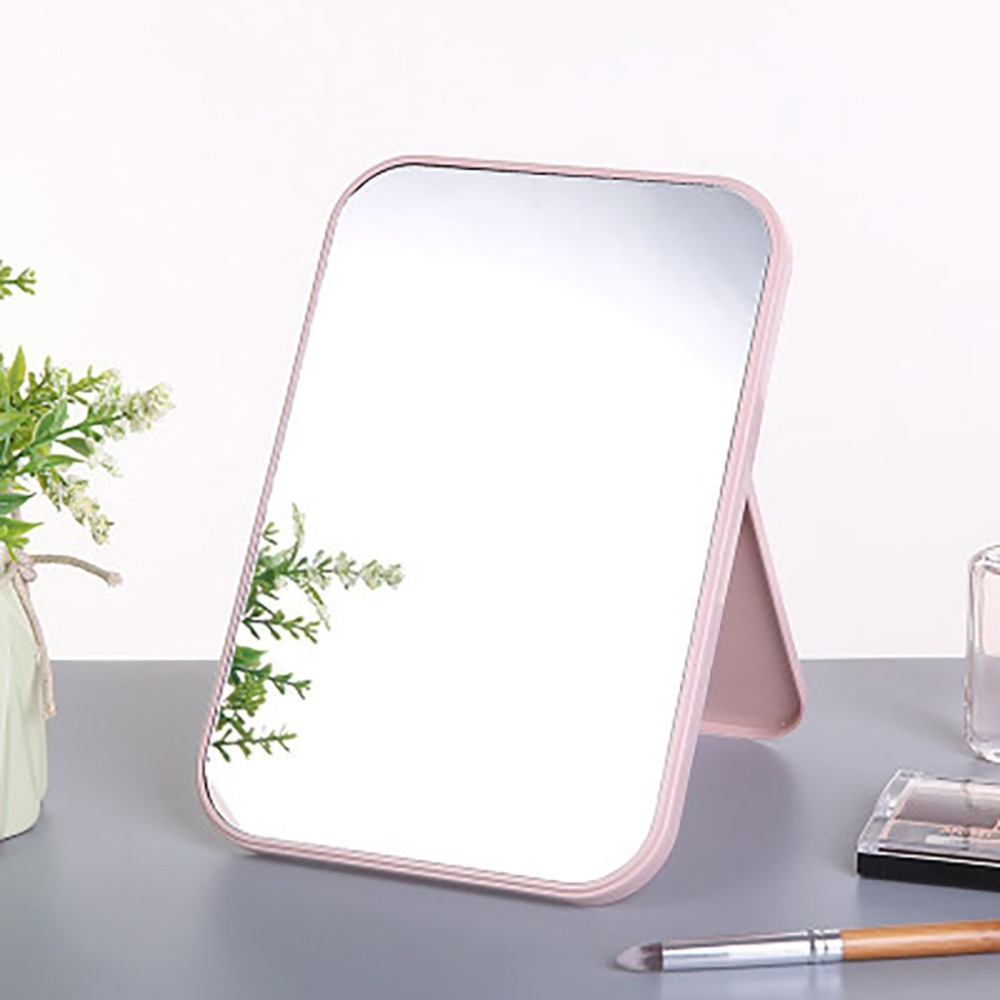 Folding Portable Large Square High Definition Single Side Cosmetic Mirror Portable And Easy To Use Simple And Beautiful