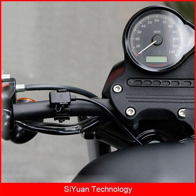 Mwupp motocicleta dupla porta usb 12 v-24 v 2.4a carregador usb com cabo de carregamento micro usb ipx6 à prova d' água para smart telefones gps