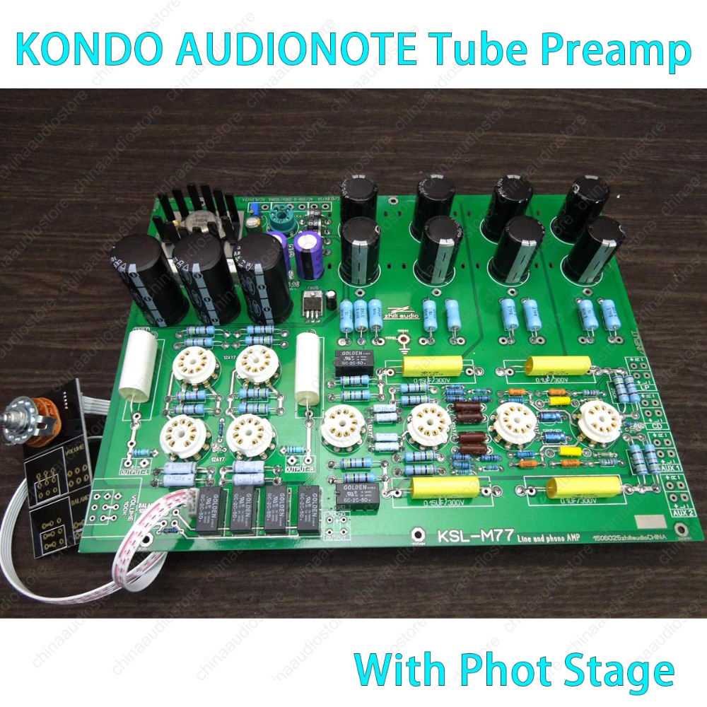 Haut de gamme M77 Tube Phono préamplificateur avec Phono scène stéréo Valve préampli carte Kit de bricolage Refere fantaisie KONDO AUDIONOTE M77