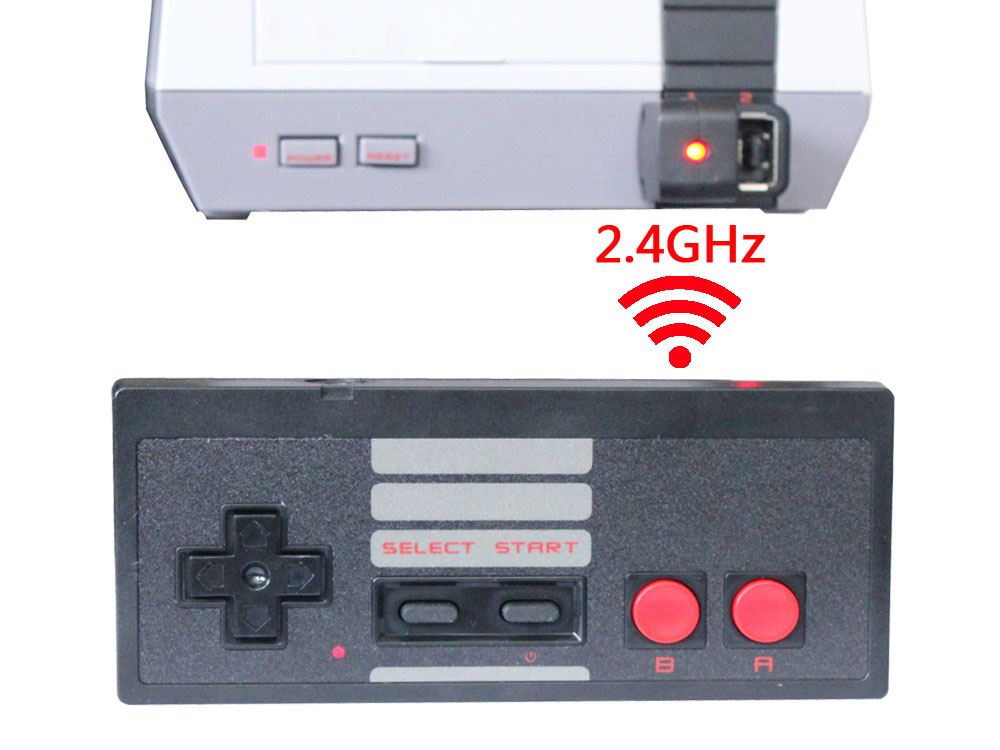 10pcs Wireless 2 4G USB Plug and Game Joystick Gamepad for Nintendo for NES Mini Buttons