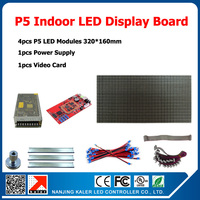 Alibaba Express High Resolution 4pcs P5 SMD Full Color Led Modules 1/16Scan 64*32 Pixel 5mm RGB Panel Indoor